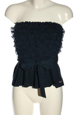 Hollister Top z dekoltem typu bandeau niebieski Elegancki
