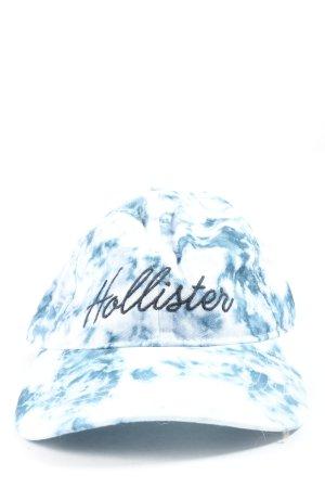 Hollister Casquette de baseball bleu-blanc motif abstrait style décontracté