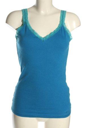 Hollister Basic Top blau-türkis Casual-Look