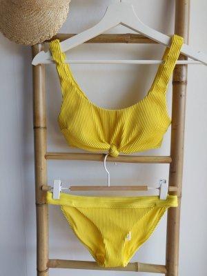 Hollister Bikini gerippt gelb