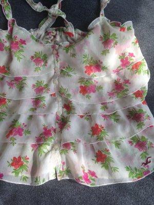 Hollister Blumen Surf Top Bluse GrM