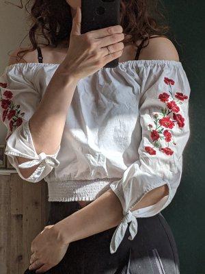 Hollister Bluse Carmen Offshoulder Stickerei