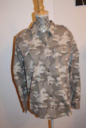 Hollister Bluse Gr. L Camouflage