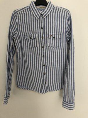 Hollister Bluse, Gr. S, blau weiß