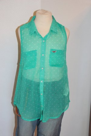 Hollister Bluse Gr. XS Polka Dots transparent
