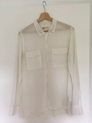 Hollister Bluse mit Kragenapplikation in Gr. M