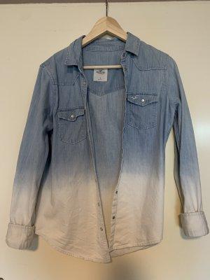 Hollister Bluse weiß blau