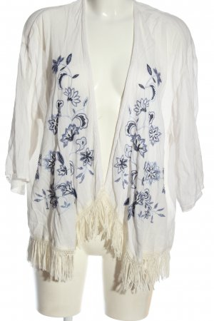 Hollister Blouse Jacket white-blue casual look