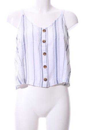 Hollister Blusentop weiß-blau Streifenmuster Casual-Look