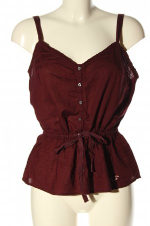 Hollister Blusentop rot Casual-Look