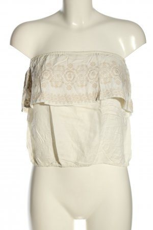 Hollister Blusentop wollweiß-creme Casual-Look
