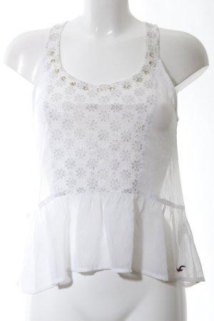 Hollister Chemisier blanc motif de fleur style décontracté