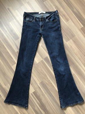Hollister Boot Cut Jeans dark blue
