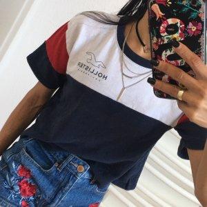 Hollister California T-Shirt Crop Top Poloshirt Cropped Damen T-Shirt Gr:XS