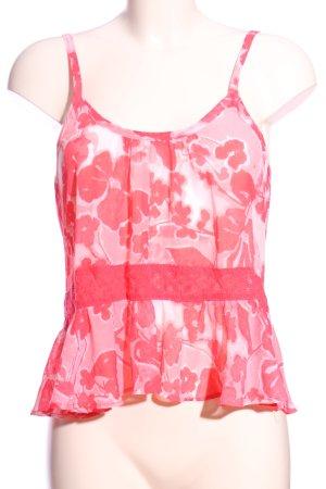 Hollister Camisole pink-weiß Allover-Druck Casual-Look