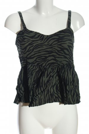 Hollister Camisole khaki-schwarz Allover-Druck Casual-Look