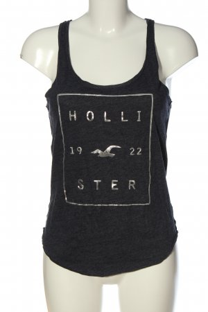 Hollister Camisola gris claro-color plata estampado temático look casual