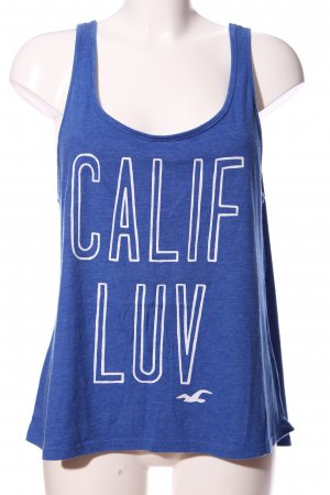 Hollister Basic topje blauw-wit gestippeld casual uitstraling