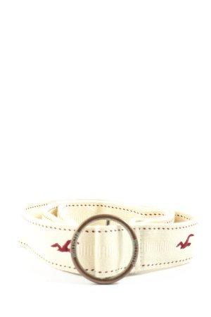Hollister Pasek materiałowy biały W stylu casual