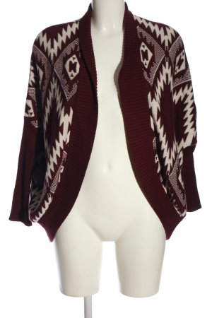 Hollister Cardigan rot-weiß Allover-Druck Casual-Look