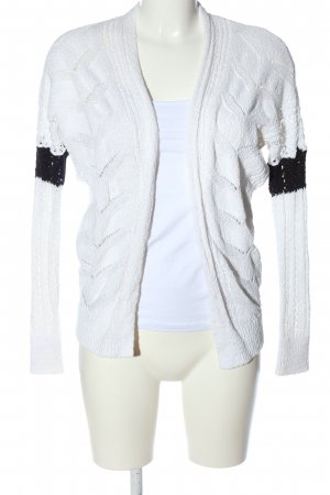 Hollister Cardigan weiß-schwarz Casual-Look