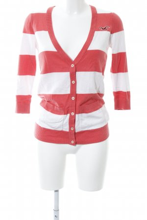 Hollister Cardigan rot-weiß Streifenmuster Casual-Look