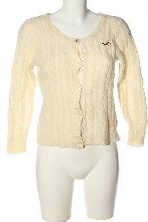 Hollister Cardigan creme Zopfmuster Casual-Look