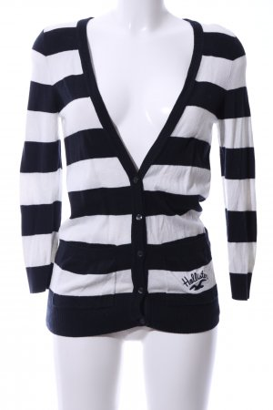 Hollister Cardigan schwarz-weiß Streifenmuster Casual-Look