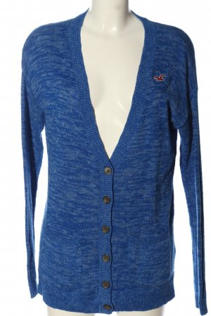 Hollister Cardigan blau meliert Casual-Look