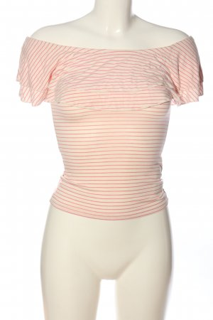 Hollister Carmen-Bluse creme-pink Streifenmuster Casual-Look