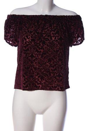 Hollister Carmen-Bluse rot-schwarz abstraktes Muster Casual-Look