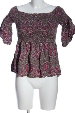 Hollister Carmen-Bluse abstraktes Muster Casual-Look