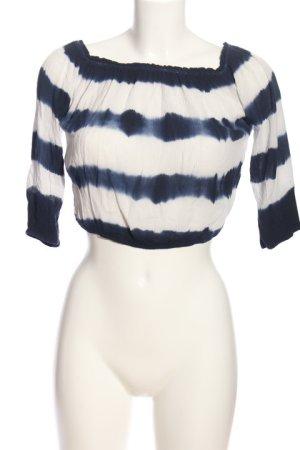 Hollister Carmen-Bluse weiß-schwarz Streifenmuster Casual-Look