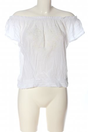 Hollister Blusa tipo Carmen blanco look casual