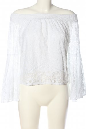 Hollister Carmen blouse wit casual uitstraling