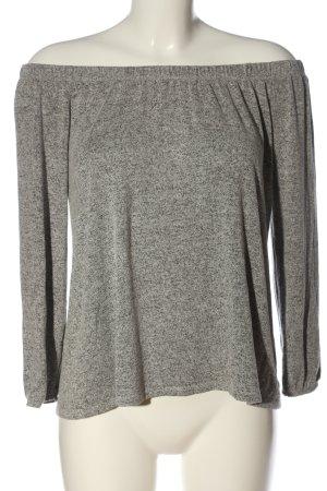 Hollister Camisa tipo Carmen gris claro moteado look casual