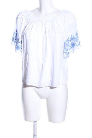 Hollister Carmen Shirt white flower pattern casual look