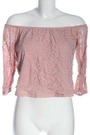 Hollister Carmen Shirt pink allover print casual look