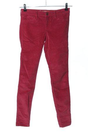 Hollister Pantalon en velours côtelé rouge style décontracté