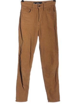 Hollister Corduroy broek bruin casual uitstraling