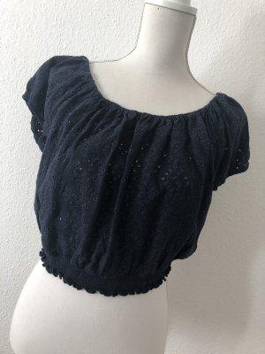 Hollister Camisa de un solo hombro azul oscuro