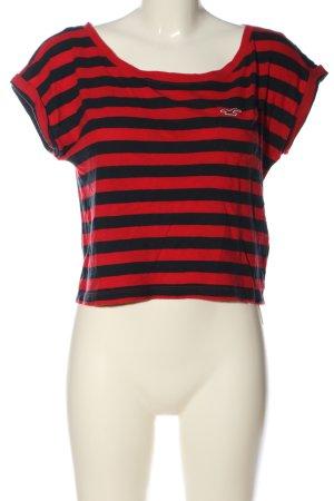 Hollister Koszula o skróconym kroju czerwony-czarny Na całej powierzchni