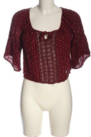Hollister Cropped shirt rood-room volledige print elegant