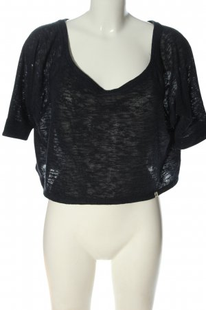 Hollister Cropped Shirt schwarz Casual-Look