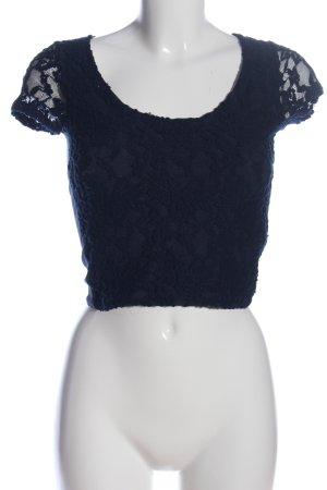 Hollister Cropped Shirt blau Casual-Look