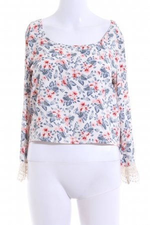 Hollister Cropped Shirt Blumenmuster Casual-Look