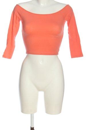 Hollister T-shirt court orange clair style décontracté
