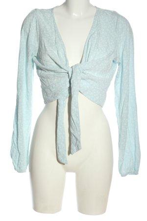 Hollister Cropped Shirt blau-weiß Allover-Druck Casual-Look