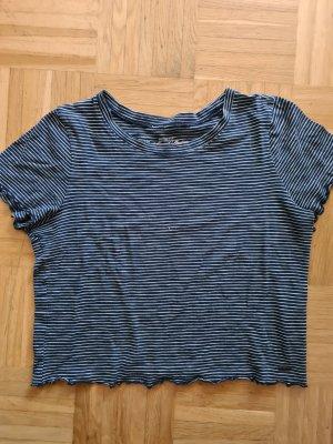 Hollister T-shirt court blanc-bleu foncé