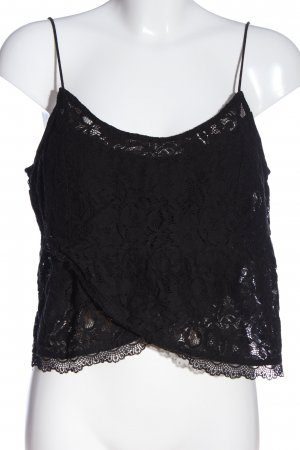 Hollister Cropped Top schwarz Casual-Look